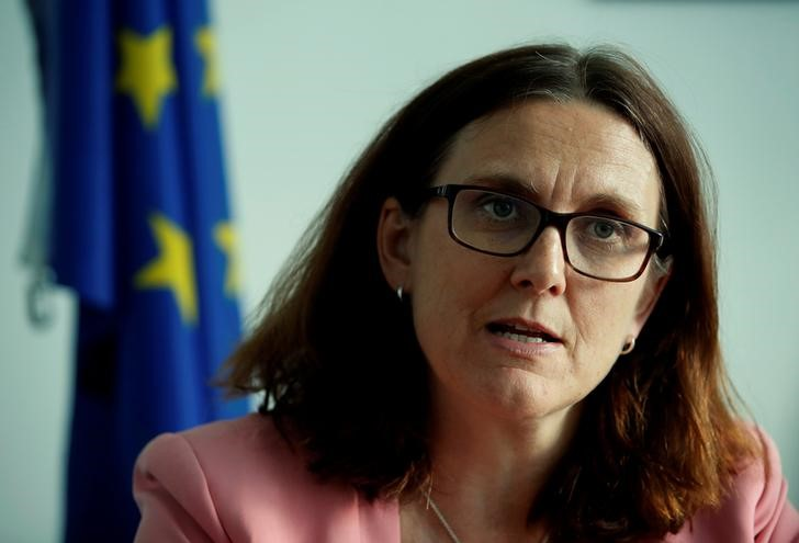EU is making retaliation list for possible U.S. car tariffs: Malmstrom