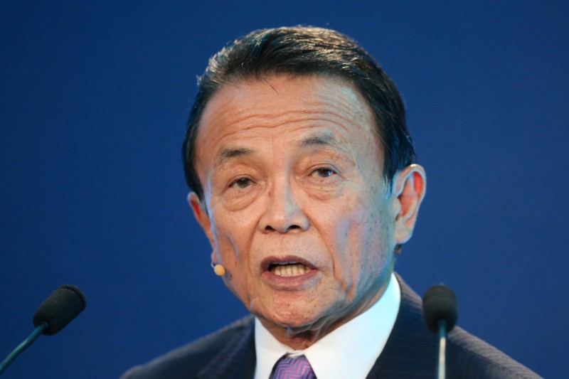 Japan finance minister says major nations agree not to target FX levels