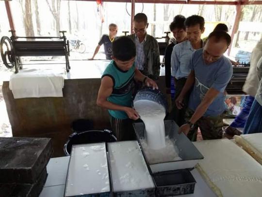Myanmar: Rubber exports up