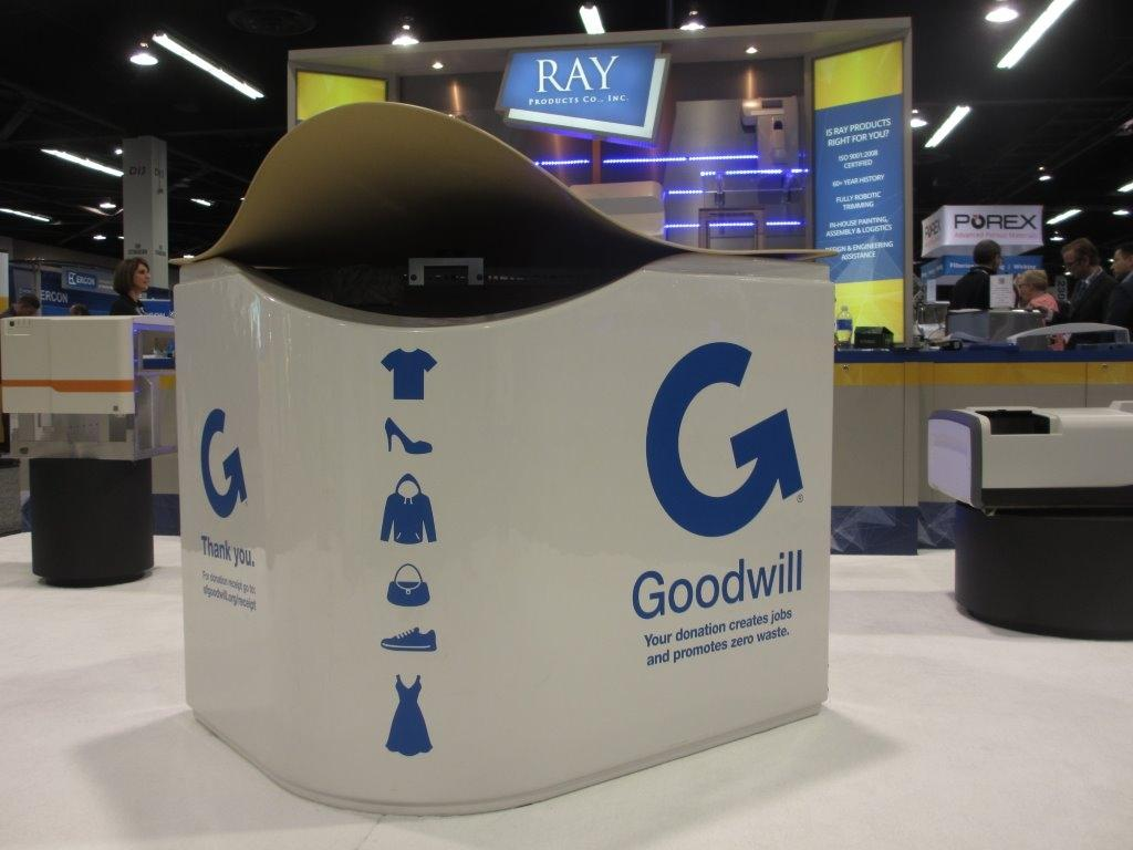 Thermoforming an updated charity bin for the 21st century