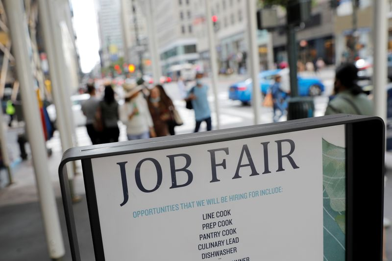U.S. weekly jobless claims fall below 300,000 in boost to labor market recovery